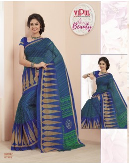 Festival Wear Blue Super Net Saree  - VIPUL-32037