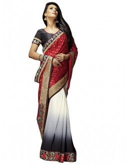Party Wear Multicolor Brasso Saree - 1302