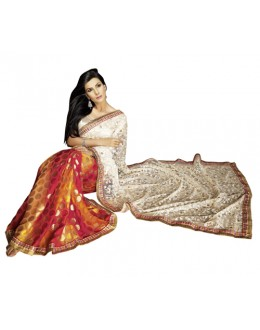 Party Wear Multicolor Net Saree - 1310