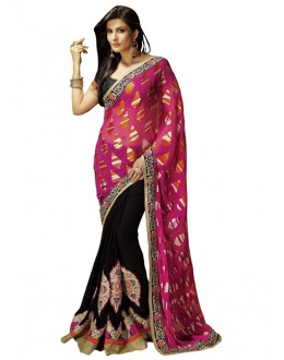 Party Wear Multicolor Brasso Saree - 1311