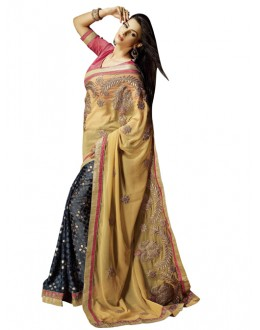 Party Wear Multicolor Brasso Saree - 1312