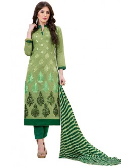 Office Wear Green Salwar Suit - 1011