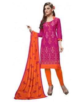 Office Wear Pink Jacquard Salwar Suit -302
