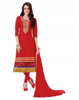 Office Wear Red Salwar Suit  - BEFIKRE1005