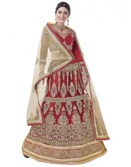 Designer Red Net Lehenga Choli -BEGUM JAAN15007