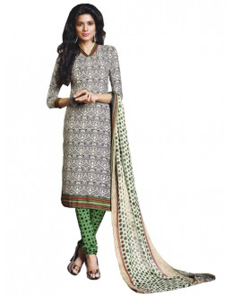 Casual WearOff White Un-Stitched Churidar Suit - DZL1014