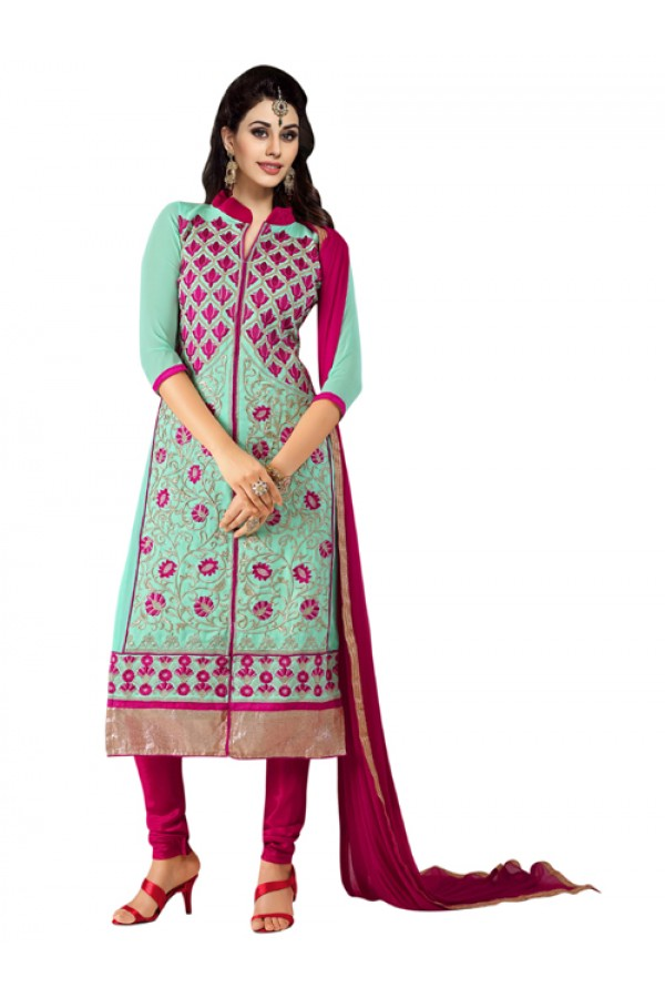 Eid Special Sky Blue Georgette  Churidar Suit - 902
