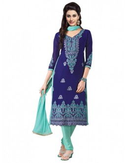 Eid Special Blue Georgette  Churidar Suit - 904