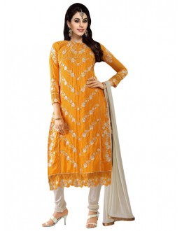 Eid Special Yellow Georgette  Churidar Suit - 905