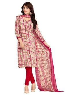 Casual Wear Multi-Colour & Red Salwar Suit  - 5020