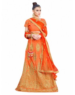 Designer Light Orange Lehenga Choli - KALKI8505