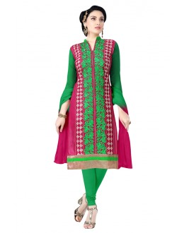 Office Wear Green Cotton Salwar Suit  - KOMAL VOL 522003