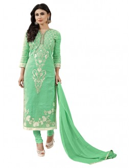 Mouni Roy Office Wear Green Churidar Suit - 1009