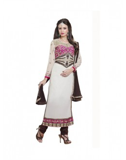 Eid Special White Cambric Cotton Salwar Suit - 4NZK905