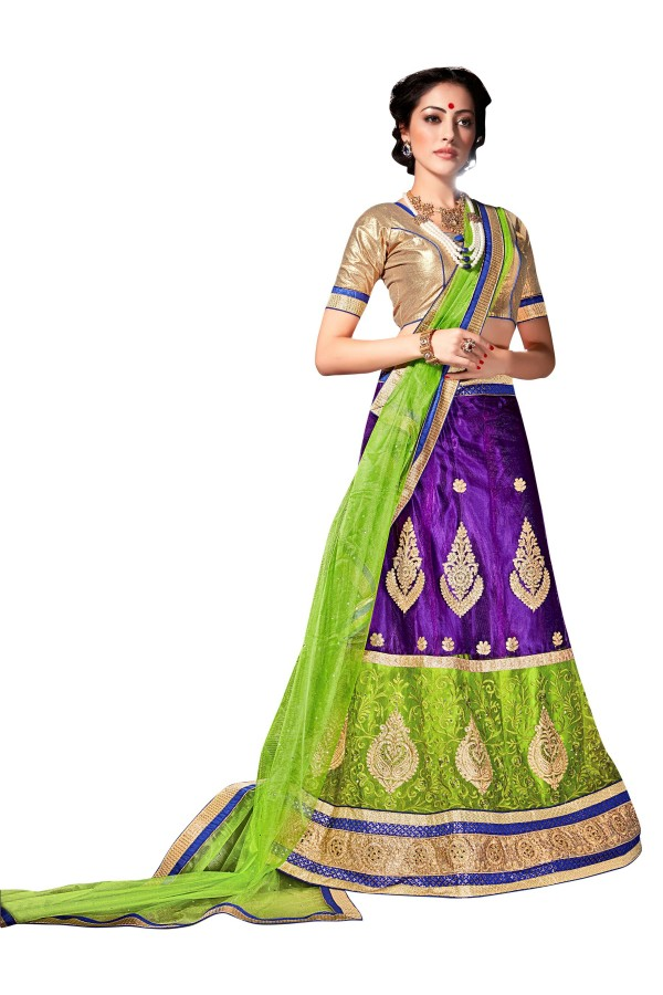 Ethnic Wear Net Purple Lehenga Choli - ALISHA 35103