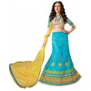 Ethnic Wear Net Sky Blue Lehenga Choli - ALISHA 35106