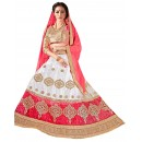 Ethnic Wear Net White Pink Lehenga Choli - ALISHA 35115