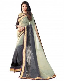 Festival Wear Georgette Multicolor Saree - AMREEN4606