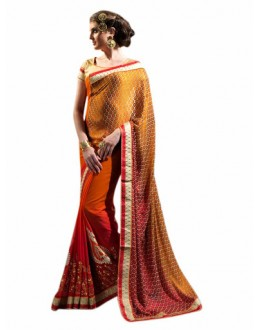 Designer Multicolor Embroidered Georgette Saree - 3012 ( ST-BRASSO QUEEN )
