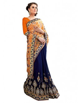 Designer Multicolor Embroidered Georgette Saree - 3016 ( ST-BRASSO QUEEN )