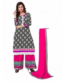 Designer Multicolor Double Bottom Unstitched Salwar Kameez-7504(ST-DUAL SIM)