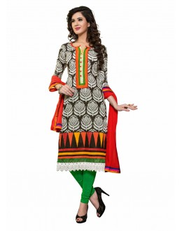 Designer Multicolor Double Bottom Unstitched Salwar Kameez-7506(ST-DUAL SIM)