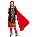 Office Wear Black & Red Cotton Salwar Suit  - EXOTIC1408