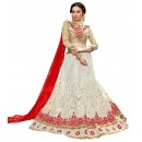 Ethnic Wear Net White Lehenga Choli - GOLDEN LEAF5311