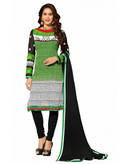 Designer Multicolor Georgette Straight Unstitched Churidar Suit-KIMG32002(ST-IMAGICA)