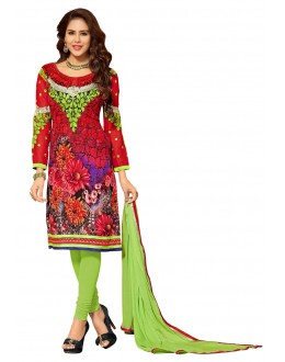 Designer Multicolor Georgette Straight Unstitched Churidar Suit-KIMG32003(ST-IMAGICA)