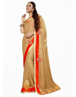 Designer Party Wear Beige Saree-17012(ST-LAZZA)
