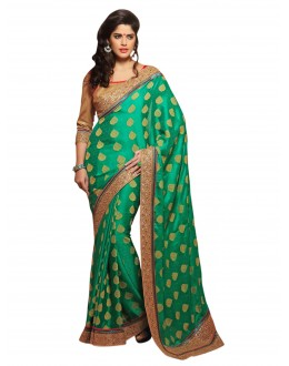 Designer Party Wear Green Saree-7707(ST-MOHINI)