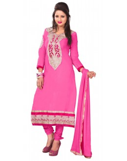 Designer Pink Straight Unstitched Churidar Suit-MN21004(ST-MONA2)