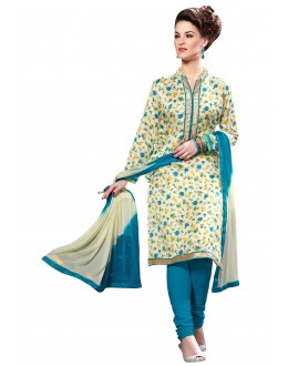 Bhagalpuri Silk Multicolor Churidar Suit - MADHULIKA1809