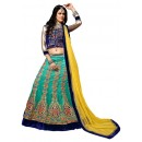 Wedding Special Blue Net Embroidered Lehenga Choli - 3410 ( ST-RAMLEELA )