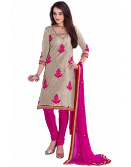 Designer Grey Straight Unstitched Churidar Suit-KRC104(ST-ROYAL CLUB)