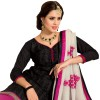 Diwali Special Black & Pink Embroidered Chanderi Cotton Churidar Suit -18002(ST-ROYAL RAJDHANI)
