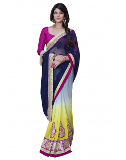 Designer Party Wear Muticolor Saree-1704( ST-SIGNATURE-2)