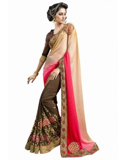 Designer Multicolor Embroidered Georgette Saree - 2905 ( ST-SIGNATURE-3 )
