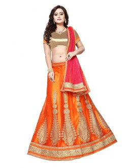 Traditional Orange Net Lehenga Choli - SAI NX5102