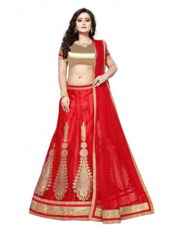 Wedding Wear Red Net Lehenga Choli - SAI NX5106