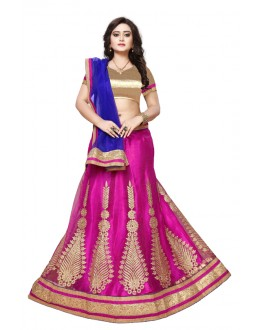 Pink Colour Net Embroidery Lehenga Choli - SAI NX5107