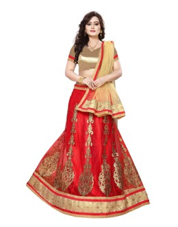 Traditional Red Net Lehenga Choli - SAI NX5112
