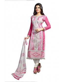 Eid Specialel Pink CHANDERI COTTON Churidar Suit - 1103