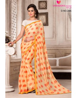 Casual Wear Orange Chiffon Saree  - VARSIDDHI-2882