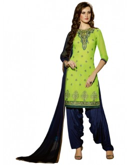 Party Wear Green Georgette Patiala Suit - ZPH4652