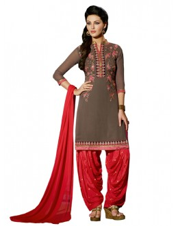 Party Wear Grey Georgette Patiala Suit - ZPH4659