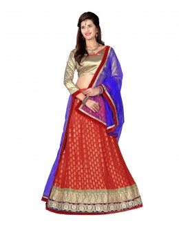 Designer Style Viscose Red Lehenga Choli - 118red