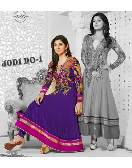 Designer Georgette Blue Anarkali Suit - FFP1-1042