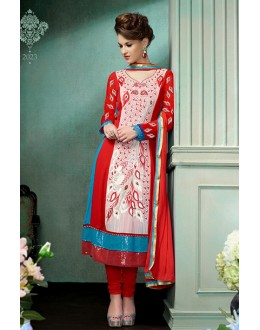 Party Wear Georgette Red Salwar Suit - FFP12-2023